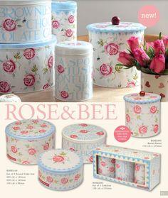 Emma Bridgewater Rose & Bee Tin Storage 2014 at www.eliteboxes.co.uk