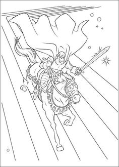Thor Coloring Pages 7 | Coloring pages for kids | Pinterest | Thor