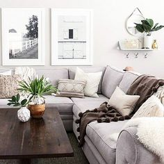 Fresh and light - mix in a few rustic vintage pieces and it would be perfection!  Modern farmhouse, urban design... white and bright. Love it! #remodelinglivingroom