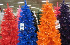 Multi Colored Christmas Trees (Garden Ridge) | Christmas!