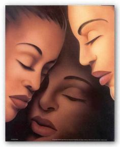 African American Art Print Sisters by Keith Mallett