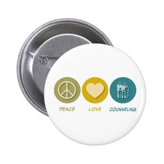Peace Love Counseling Pinback Button