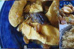 Tajine de poulet au citron et aux raisins
