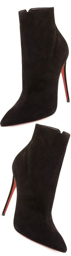 Christian Louboutin So Kate Suede Red Sole Bootie LOLO h