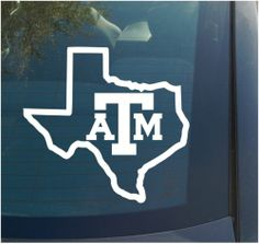 Texas A M Vinyl Decal Sticker State College Football Sports Aggies Oracal 651 | eBay