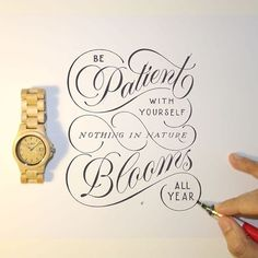 Reminder to all! Be Patient With Yourself Nothing in Nature Blooms All Year via @novia_jonatan #typematters