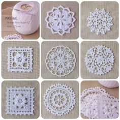 Motive 198 in World Crochet Crochet Snowflake Pattern, Crochet Snowflakes, Crochet Flower Patterns, Crochet Squares, Crochet Designs, Crochet Flowers, Crochet Chart, Thread Crochet, Crochet Motif