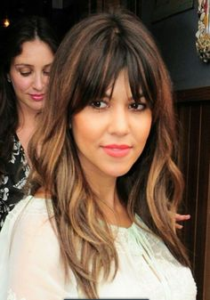 Long Hair #bangs #color #kourtneykardashian