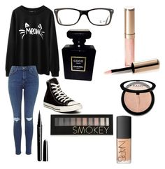 Untitled #2 by kartseva-ana on Polyvore featuring polyvore, fashion, style, Converse, Ray-Ban, Forever 21, Sephora Collection, NARS Cosmetics, Marc Jacobs, Chanel and By Terry