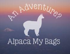 An Adventure, Alpaca My Bags! Alpaca adventure outdoor vinyl decal, alpaca water bottle sticker, nalgene sticker, outdoorsy gift