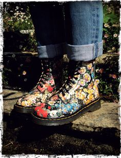 Absolutely IN LOVE with these specific Doc Martens and for the life of me can't find any way to get them on my own feet!