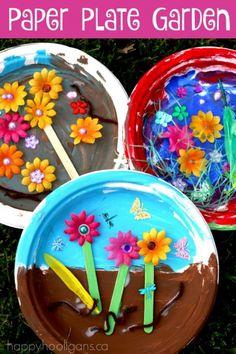 Paper Plate Garden - Sprint craft for kids