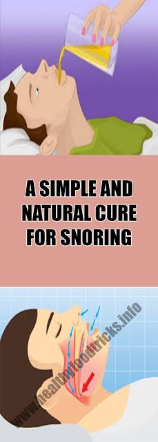 A SIMPLE AND NATURAL CURE FOR SNORING