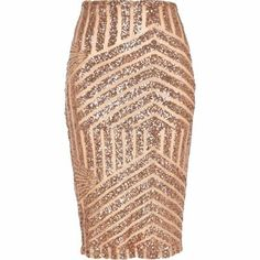blush sequin pencil skirt // i love the geometric pattern of this one
