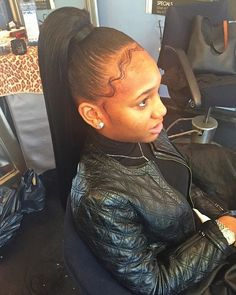 Black Ponytail Hairstyles Fair Instagram Tinyyyy  H A I R  Pinterest  Ponytail Black Girls