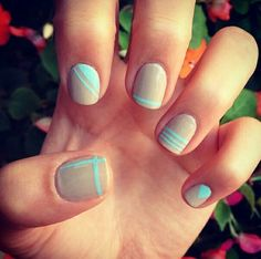 Nude and teal