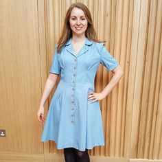 Vintage Shirt Dress | Sew Over It Sew Over It, Dress Sewing, Denim Fabric, Shirtdress, Button Up, Sewing Patterns, Stitch, Casual, How To Make
