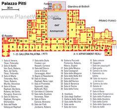 Palazzo Pitti - Floor plan map