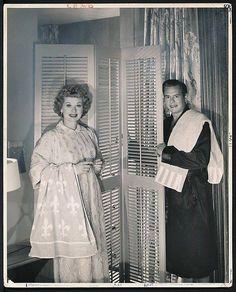 Lucille Ball & Desi Arnaz at home 1950s