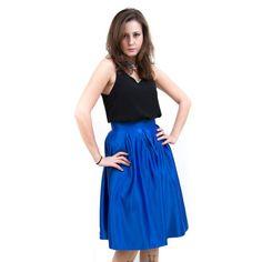 חצאית פעמון כחול רויאל