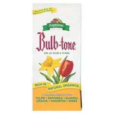 Bulb-Tone 3-5-3 (20 lbs) by Espoma. $18.99. BT20 Features: -Plant food.-Size: 20 pound.-Perfect for all bulbs, including tulips, daffodils, crocus and hyacinths.-Rich in bone meal and other natural organic to provide a complete, balanced feed for all bulbs. Dimensions: -Weight: 20 lbs.-Dimensions: 2.9'' H x 14.6'' W x 21.4'' D.