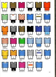 Football strip coulors
