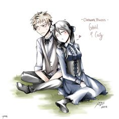 Gabriel Lightwood and Cecily Herondale