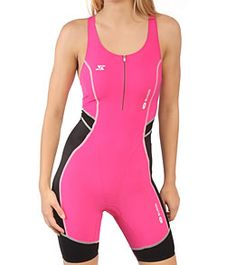 Sugoi Women's RS Tri Suit at SwimOutlet.com   ---> Awwwww look at that pink tri suit.  Does it have a racerback? That'd be perfect.