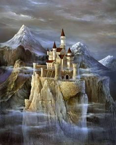 castle in the water
