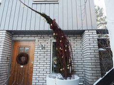 Juledekorasjon på trappa ble litt større en planlagt, og ikke akkurat minimalistisk.