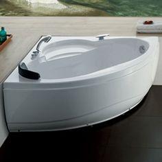 "52"" Angelique Freestanding Acrylic Corner Tub"
