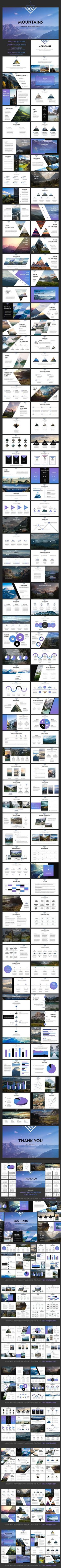 Mountains - Powerpoint Template . PowerPoint Templates