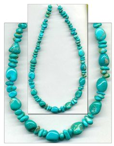 Southwest Kingman Mine Turquoise Beads~Blue~4-8mm Natural Color Arizona USA