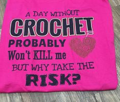 975_pocket_rox.crochet I have a wonderful and funny husband. This came in the mail today. A total surprise. I'll be wearing this T-shirt to bed tonight!! Love it #crochet #crochetaddict #crocheting #tshirt #crochetgeek #lovemyhusband #lovemyhobby #instagood #love #instacrochet