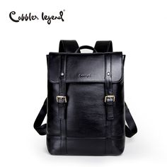 64e3fa3914 Cobbler Legend 2017 Men Genuine Leather Backpack Male Brand Large Capacity  Fashion Laptop Men Backpack Large Travel Bag Mochila-in Backpacks from  Luggage ...