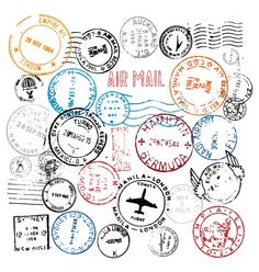 World Postmark Stamps Vector Set 450x473 無料ダウンロード!世界各国の消印などのスタンプ素材集(商用可・AI・EPS)   Free Style