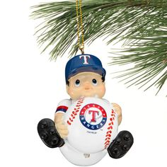 Texas Rangers Lil' Fan Baseball Player Acrylic Ornament - $7.99