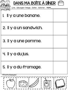 French Language Lessons, French Language Learning, French Lessons, Dual Language, Spanish Lessons, Spanish Language, French Flashcards, French Worksheets, Teaching Kindergarten
