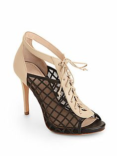 Pour La Victoire Sofie Lace-Up Cage Sandals/Black  i just died