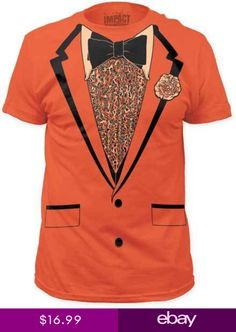 b1732049d Retro Prom Orange Tuxedo Tux Funny Costume Adult T Tee Shirt SUBIM30