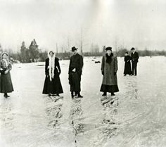 A group standing on ice :: Ellensburg Heritage