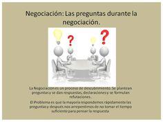 Consejo de negociación la importancia de las preguntas. Teamwork, Tips