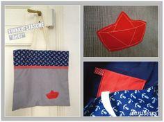 Einkaufstasche aus Stoffrest / Shopping bag made from scraps of fabric
