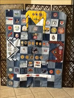 Boy Scout memory quilt.