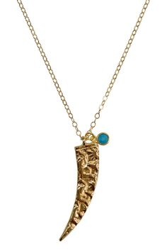 Easton long tusk necklace as seen on The Bachelorette, by Brooklyn Designs.