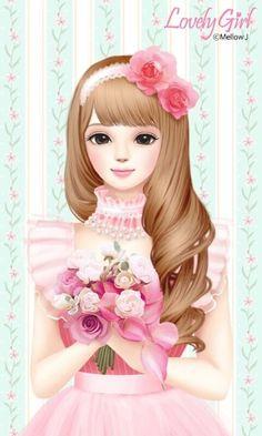 Imagen de Enakei, girl, and lovely girl Lovely Girl Image, Girls Image, Korean Illustration, Disney Princess Frozen, Girly M, Cute Cartoon Girl, Cute Girl Drawing, Cute Girl Wallpaper, Beautiful Fantasy Art