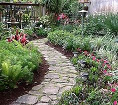 Garden Walkway made with a form and quickrete. This is the perfect path for me :)  I have just the spot. From HOMETALK