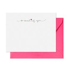 Notecard Set - So Sweet of You Letterpress