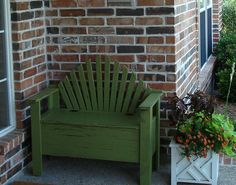 Porch bench with storage