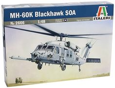 Helicopter Model Kits - MH60K Blackhawk SOA Combat Assault Helicopter 148 Italeri *** You can get more details by clicking on the image.